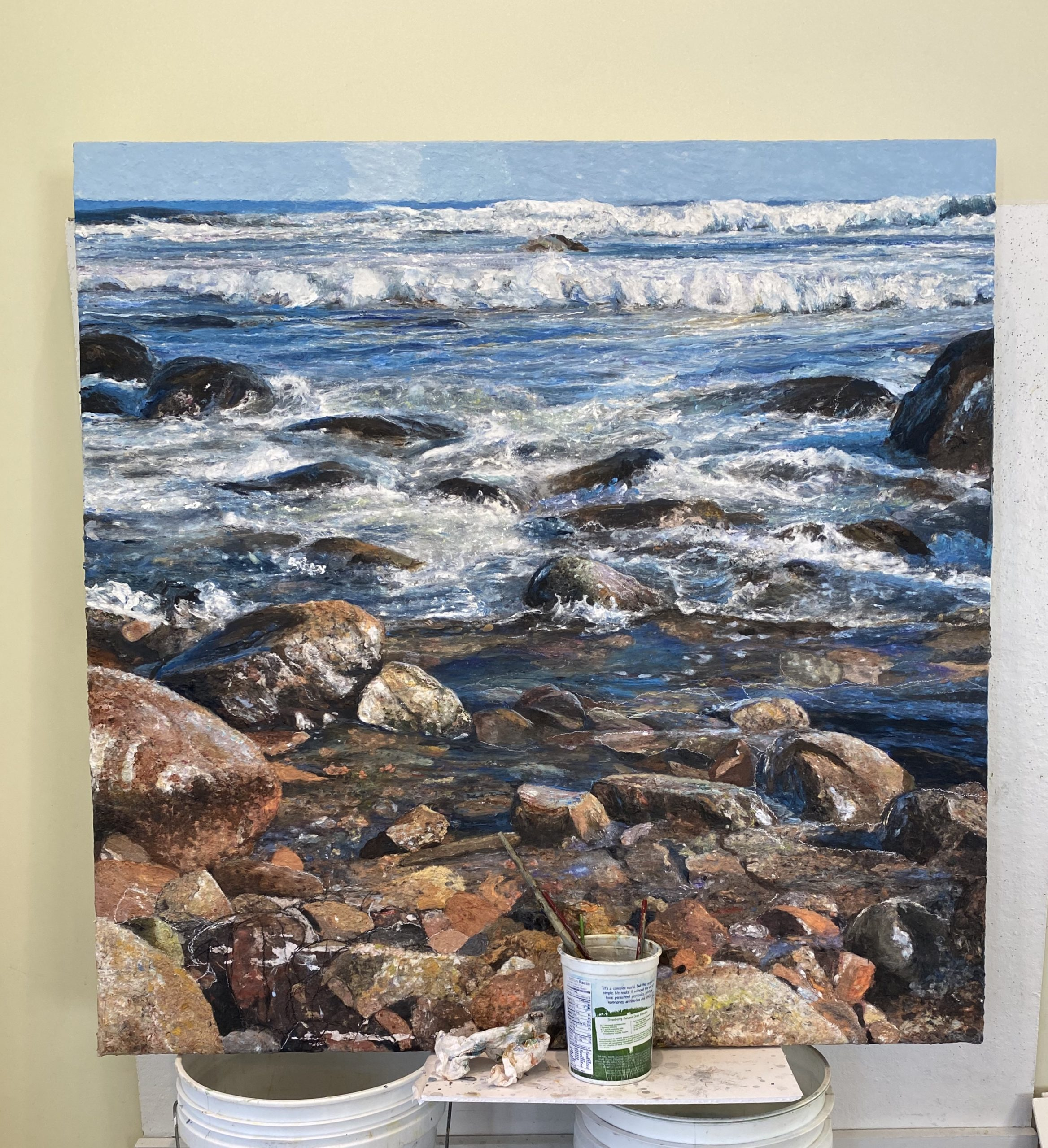 Rocks and Water painting: choosing the composition.