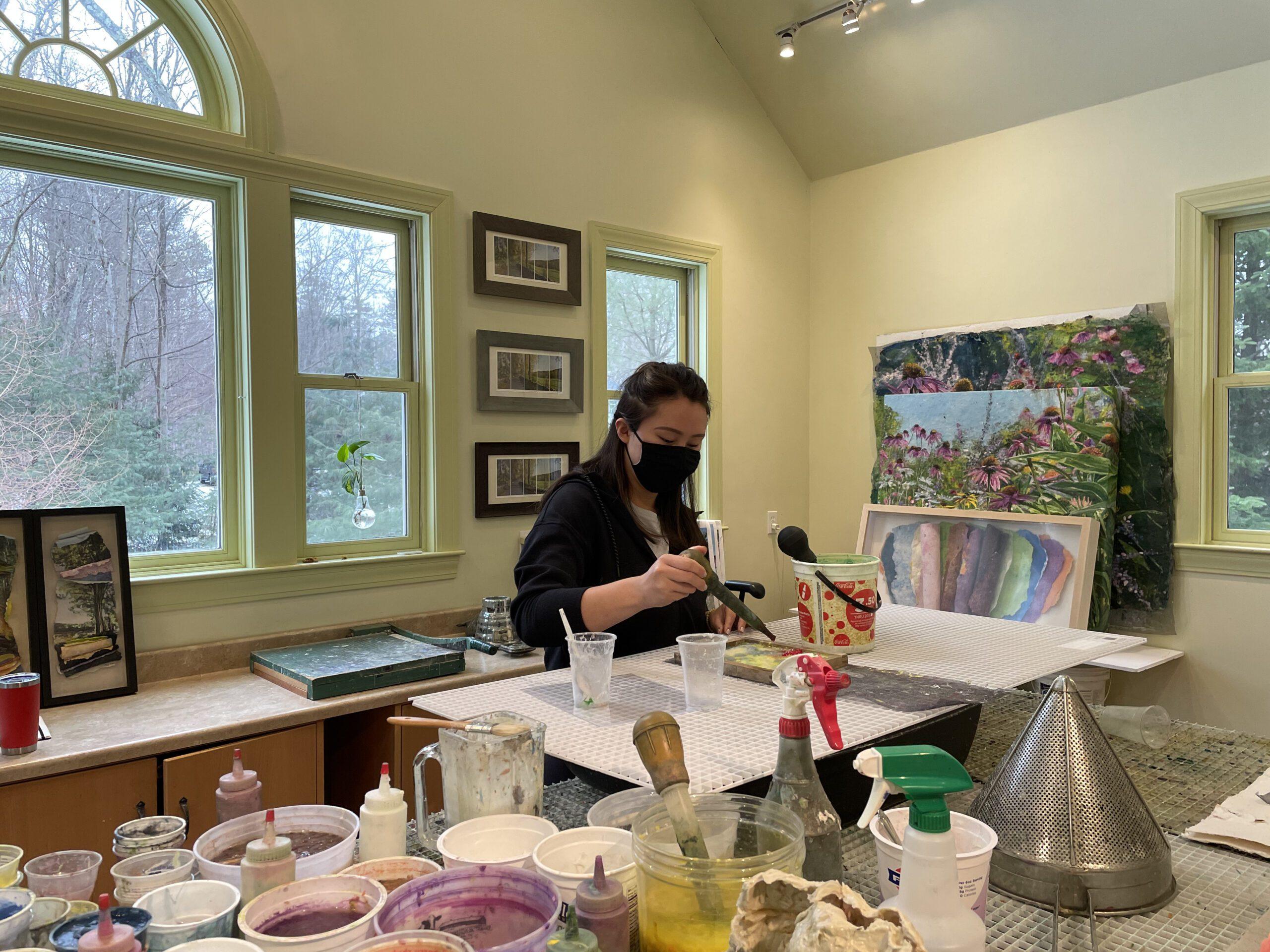Papermaking workshop with Andover High School Art Teacher Kaitlin Dierze.