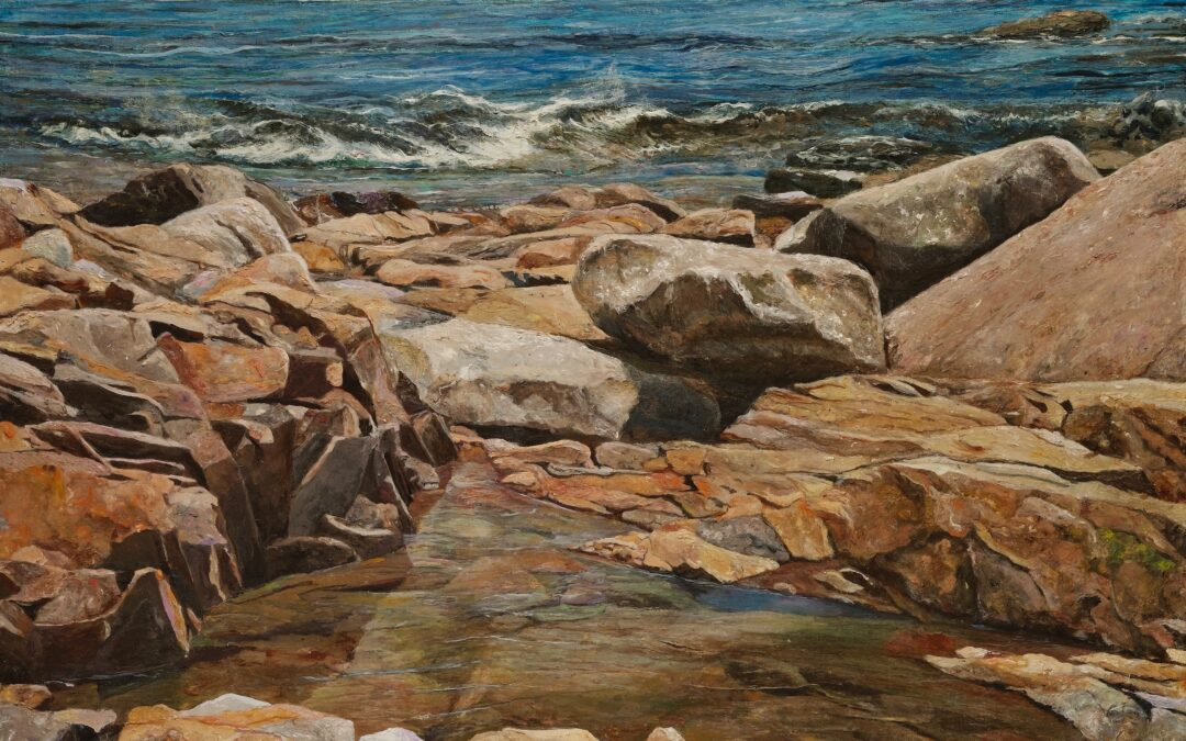 Rocks and Water as Metaphor for Life's Journey: image and text.